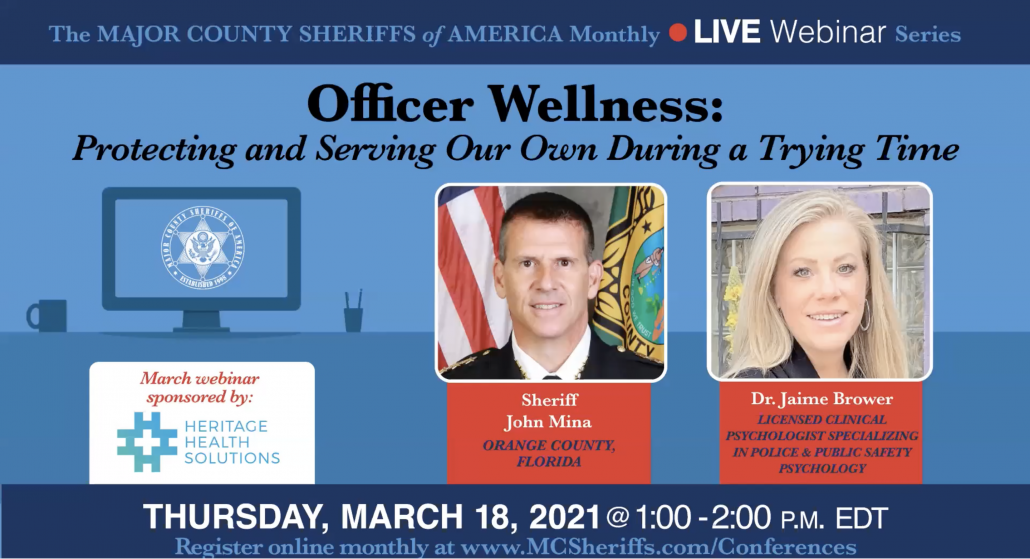Dr. Brower featured in MCSA Webinar on Officer Wellness
